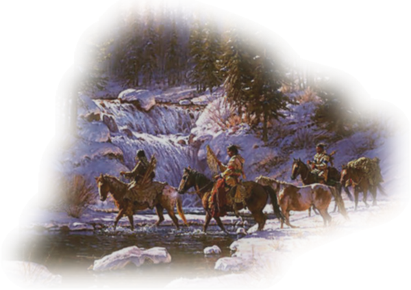 Native Americans on horse