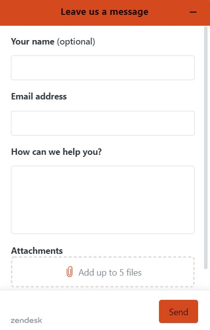 UX Writing for Contact Form