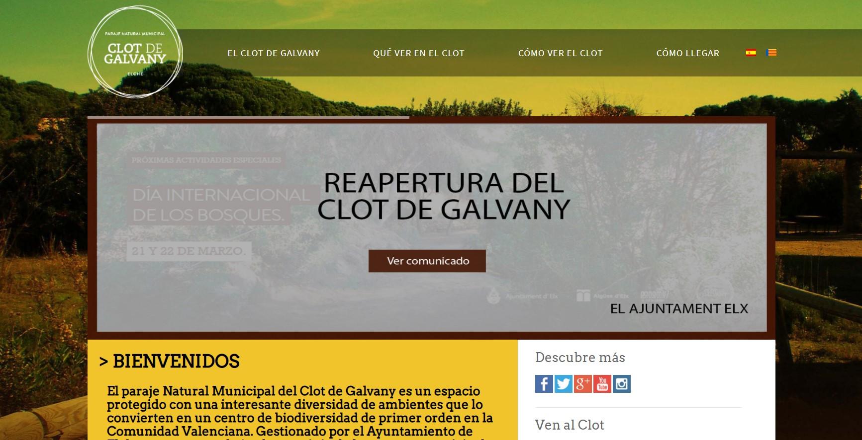 Clot De Galvany Homepage
