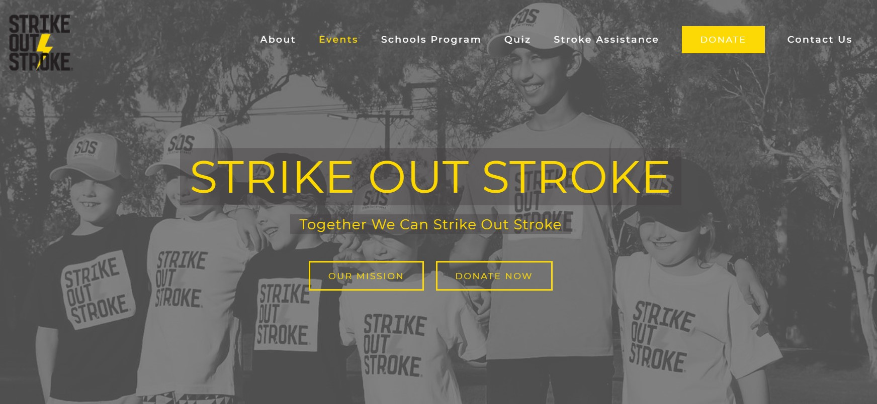 Strike Out Stroke UX Designed Homepage